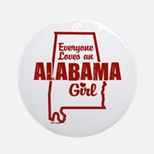 Alabama Girl Ornament (Round)