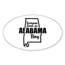 Alabama Boy Oval Decal