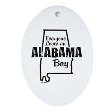 Alabama Boy Oval Ornament