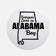 Alabama Boy Ornament (Round)