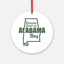 Alabama Boy Ornament (Round)