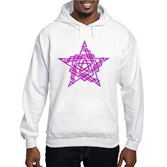 Pentagram Two Magenta Hoodie