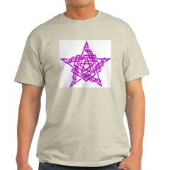 Pentagram Two Magenta T-Shirt