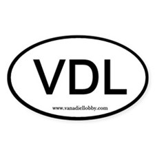 """VDL"" Oval Decal"