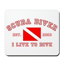 Scuba Diver Live Mousepad