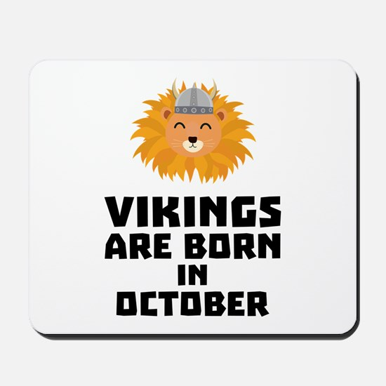 Vikings are born in October C0v8r Mousepad