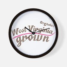 Organic! West Virginia Grown! Wall Clock