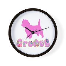 Groovy Cairn Terrier Wall Clock