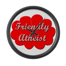 Friendly Atheist Large Wall Clock