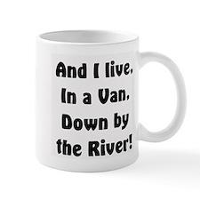 I live in a van Small Mug