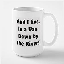 I live in a van Large Mug