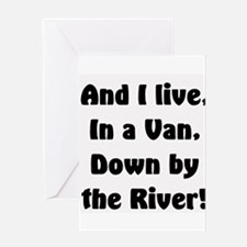 I live in a van Greeting Card