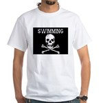 Swimming Pirate White T-Shirt