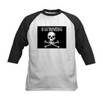 Swimming Pirate Kids Baseball Jersey