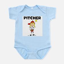 Girl Baseball Pitcher Infant Bodysuit