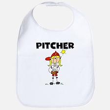 Girl Baseball Pitcher Bib