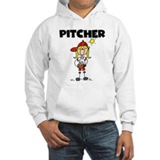 Girl Baseball Pitcher Hoodie