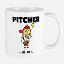 Girl Baseball Pitcher Mug