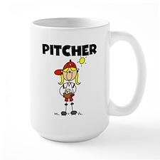 Girl Baseball Pitcher Mug