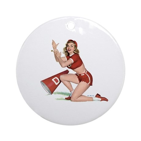 Cheerleading Girl Keepsake (Round)