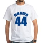 OBAMA 44 44th President White T-Shirt