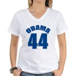 OBAMA 44 44th President Women's V-Neck T-Shirt