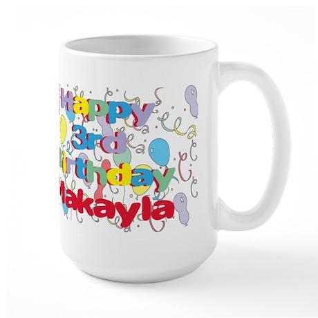 Makayla's 3rd Birthday Large Mug