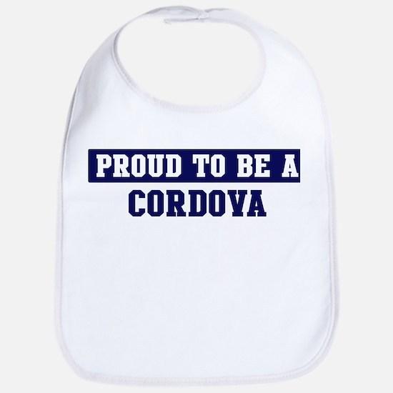 Proud to be Cordova Bib