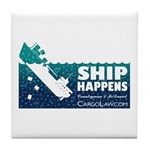 """Drink Tile Coaster Because """"Ship Happens&quot"""