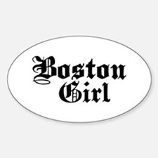 Boston Girl Oval Decal