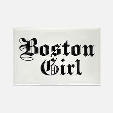 Boston Girl Rectangle Magnet