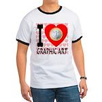 I Love Graphic Art Ringer T