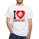 I Love Graphic Art White T-Shirt