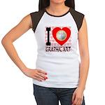 I Love Graphic Art Women's Cap Sleeve T-Shirt