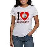 I Love Graphic Art Women's T-Shirt