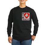 I Love Graphic Art Long Sleeve Dark T-Shirt