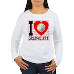 I Love Graphic Art Women's Long Sleeve T-Shirt
