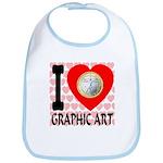 I Love Graphic Art Bib