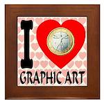 I Love Graphic Art Framed Tile