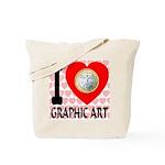 I Love Graphic Art Tote Bag