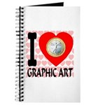 I Love Graphic Art Journal