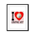I Love Graphic Art Framed Panel Print