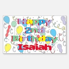Isaiah's 2nd Birthday Rectangle Decal