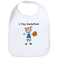 Girl I Play Basketball Bib