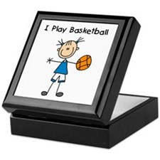 Girl I Play Basketball Keepsake Box