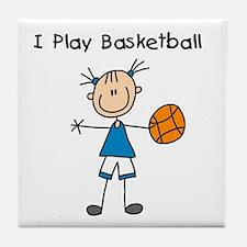 Girl I Play Basketball Tile Coaster