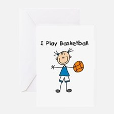 Girl I Play Basketball Greeting Card