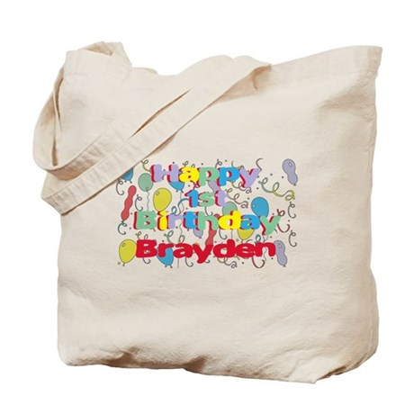 Brayden's 1st Birthday Tote Bag