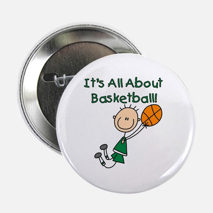 "All About Basketball 2.25"" Button"