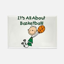 All About Basketball Rectangle Magnet